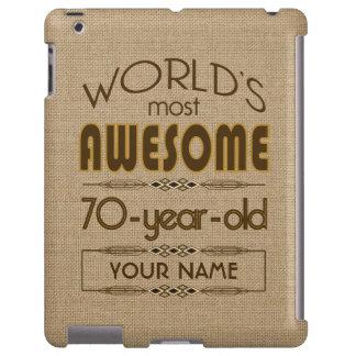 70th Birthday Celebration World Best Fabulous iPad Case
