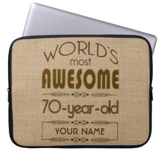70th Birthday Celebration World Best Fabulous Laptop Sleeve