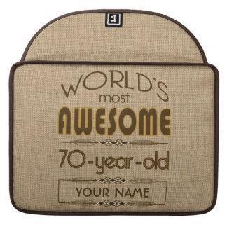 70th Birthday Celebration World Best Fabulous MacBook Pro Sleeve