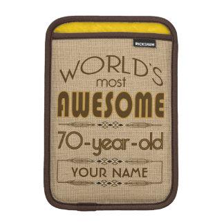 70th Birthday Celebration World Best Fabulous Sleeve For iPad Mini