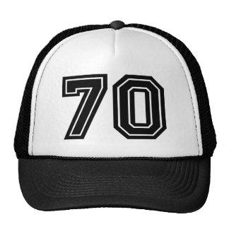 70th Birthday Classic Black Cap
