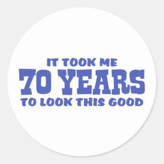 70th Birthday Classic Round Sticker