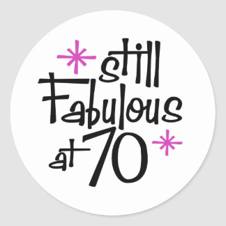 70th Birthday Classic Round Sticker