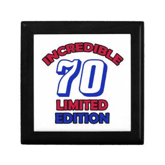 70th Birthday design Small Square Gift Box
