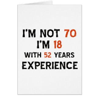 70th birthday designs greeting card
