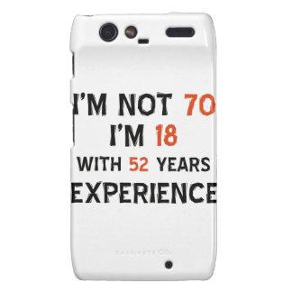 70th birthday designs motorola droid RAZR cases