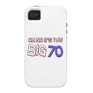70th birthday designs iPhone 4 cases