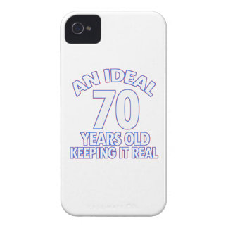 70th birthday designs iPhone 4 Case-Mate cases