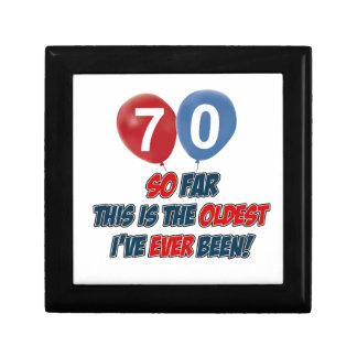 70th birthday designs gift box