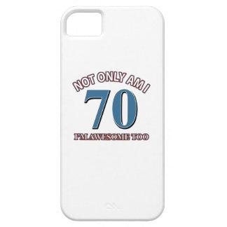 70TH birthday designs iPhone 5 Cases