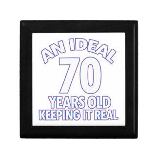 70th birthday designs small square gift box