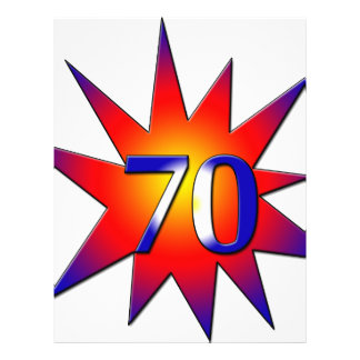 70th Birthday Full Color Flyer