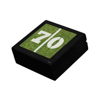 70th Birthday Football Jewelry Gift Box