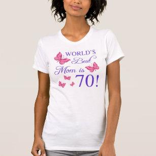 70th Birthday For Mum T Shirt