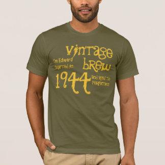 70th Birthday Gift 1944 Vintage Brew Brown Gold v9 T-Shirt