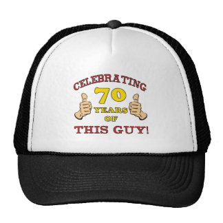 70th Birthday Gift For Him Hat