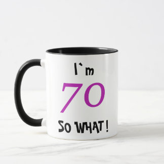 70th Birthday Gift Idea for Her Funny Mug