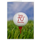 70th Birthday Golf Ball Card