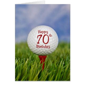 70th Birthday Golf Ball Greeting Card
