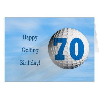 70th birthday golfing card