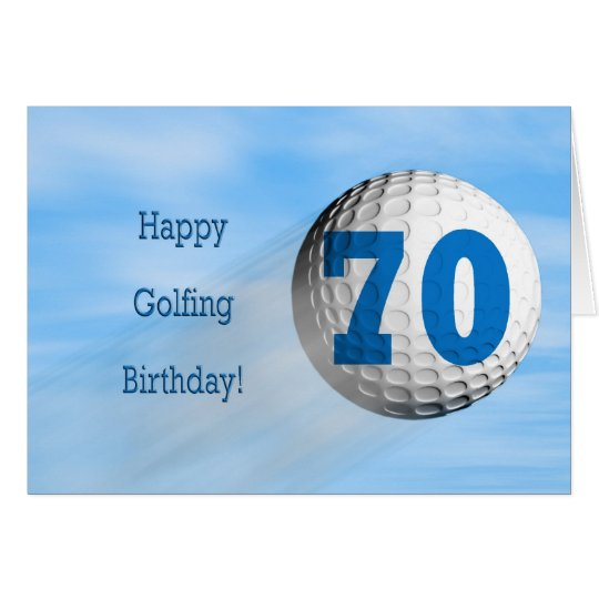 70th birthday golfing card