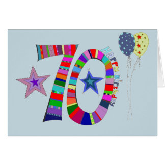70th Birthday Happy 70th Birthday Card