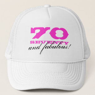 70th Birthday Party Hats Caps