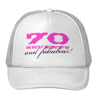 70th Birthday hat | 70 and fabulous!
