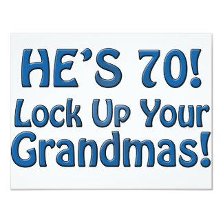 "70th Birthday 4.25"" X 5.5"" Invitation Card"