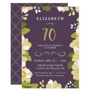 70th birthday invitations announcements zazzle uk