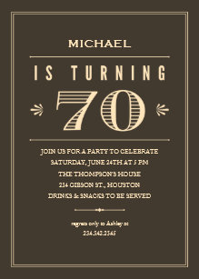 70th Birthday Invitations For Men