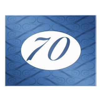 70th Birthday Invite Blue