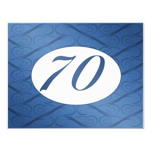 70th Birthday Invite (Blue)