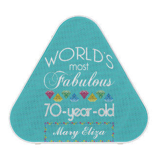 70th Birthday Most Fabulous Colorful Gem Turquoise