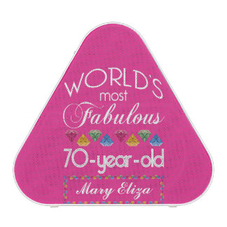 70th Birthday Most Fabulous Colorful Gems Pink