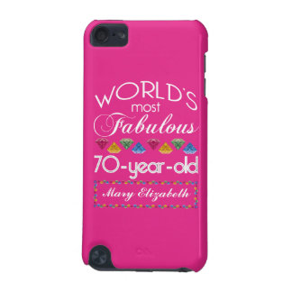 70th Birthday Most Fabulous Colorful Gems Pink iPod Touch (5th Generation) Cases
