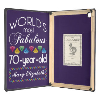 70th Birthday Most Fabulous Colorful Gems Purple iPad Air Cover
