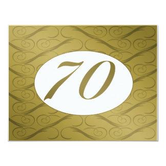 70th Birthday or Anniversary Invite (Gold)