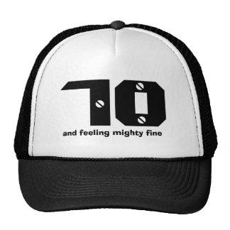 70th Birthday or ANY Year Feeling Fine Cap