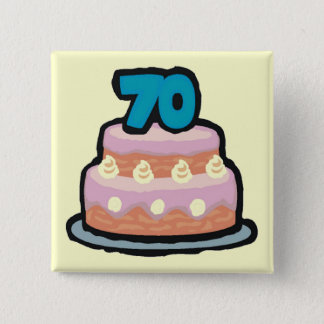 70th Birthday Party Button