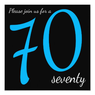 70th Birthday Party    DIY Text 13 Cm X 13 Cm Square Invitation Card