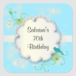 70th Birthday Party | DIY Text Square Sticker