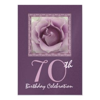 70th Birthday Party Invitation DREAMY PURPLE Rose