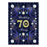 70th birthday party invite with masses of jewels 13 cm x 18 cm invitation card