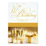 70th Birthday Party Personalised Invitation