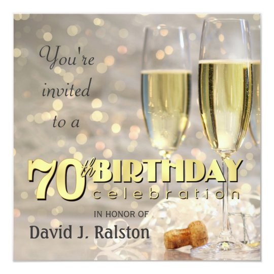 70th Birthday Party - Personalised Invitations
