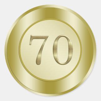 70th Birthday Party Round Sticker