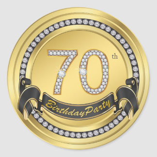 70th Birthday Party Stickers