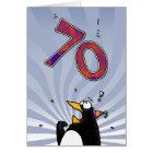 70th Birthday - Penguin Surprise Card