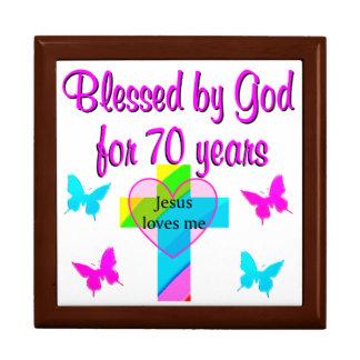 70TH BIRTHDAY PRAYER LARGE SQUARE GIFT BOX